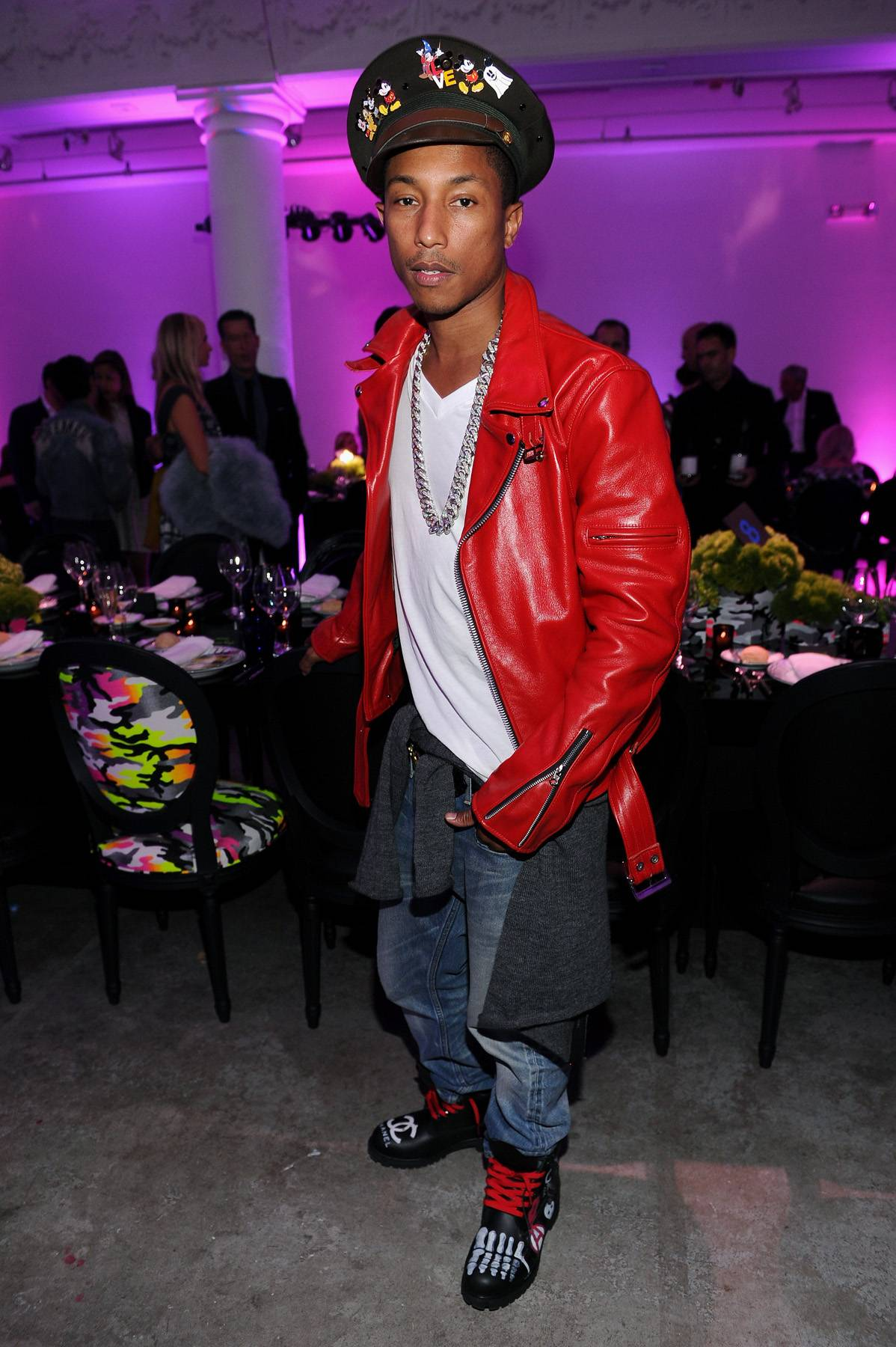 Pharrell Williams\r - Pharrell means a lot to hip hop because of the beats that he's made, some of the lyrics that he's dropped, but he also made skateboard culture quite chic and very hip hop with his Billionaire Boys Club clothing line and sneaker line, Ice Cream.\r(Photo: Dimitrios Kambouris/Getty Images)