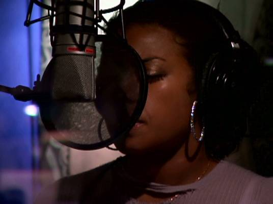 """Keyshia Cole - Keyshia is in the booth recording her new album, """"A Different Me."""""""