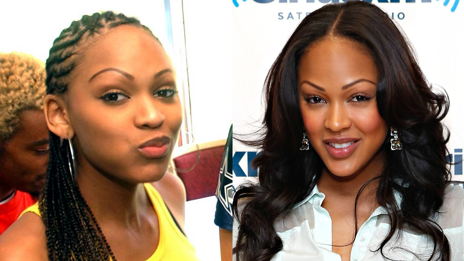 Meagan Good - After her Cousin Skeeter days, the Deception actress transitioned from long stringy hair, jeans and sporty tops to feminine outfits and sweet layers.  (Photos from left: mk/bg/Bill Greenblatt/UPI /Landov, Cindy Ord/Getty Images)
