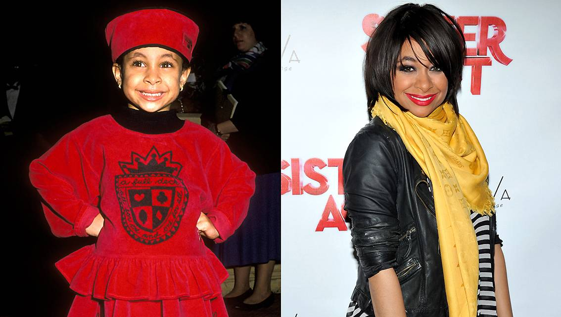 Raven-Symon? - The actress first captured our hearts as pint-sized Olivia in The Cosby Show. She grew up to star in her own Disney Channel series, That's So Raven, movies, and produce music all the while maturing into the stylish and confident woman we see today.   (Photos from left: Ron Galella/WireImage, Theo Wargo/Getty Images)