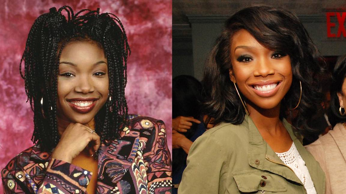 Brandy - Brandy first rocked her braids as Moesha's title teen character. Now, the actress, singer and mommy of one is looking sleek and polished on BET's The Game.  (Photos from left: UPN, James Pray/135th Street Agency)