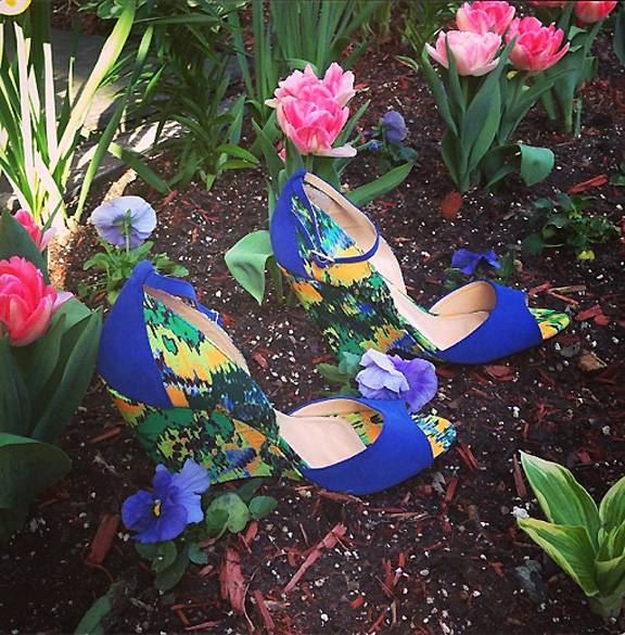 June Ambrose - Stylist to the stars June Ambrose is giving her fans something they can afford to covet. Her shoe line, the June Ambrose Collection for Theme Footwear through HSN, is a selection of designs fashioned after icons like this one, appropriately named ?Grace.?  (Photo: June Ambrose via Instagram)