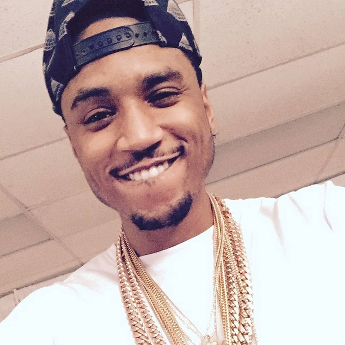 Hold Your Composure - Faces like this get people in trouble.  (Photo: Trey Songz via Instagram)