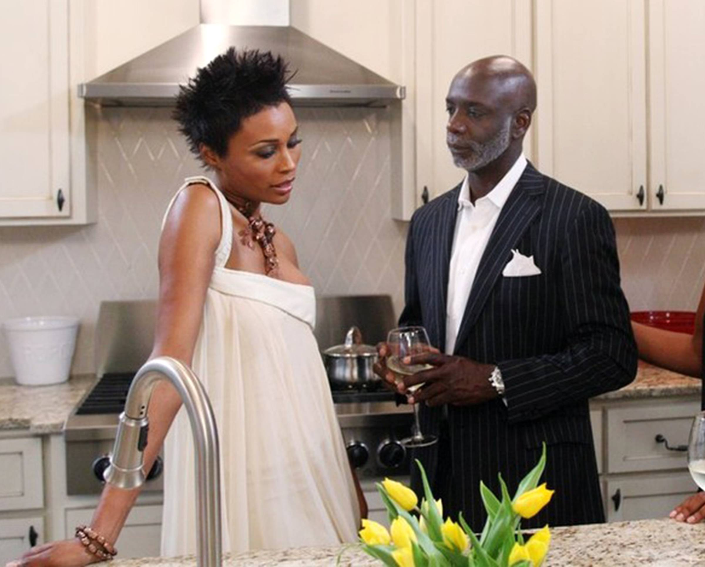 Husband and Wife  - Alongside her on Real Housewives of Atlanta is her loving husband,Peter Thomas, who she has been married to for five years. Through their ups and downs and rumored splits, they have managed to keep their marriage going strong! Black love at its best. (Photo: Wilford Harewood/Bravo)