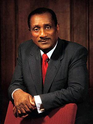 John H. Johnson: Ebony Magazine - John H. Johnsonserved as founder and publisher of Ebony magazine. Before passing away in 2005, Johnson became the first African-American to appear on the Forbes 400.(Photo: Johnson Publishing Company)