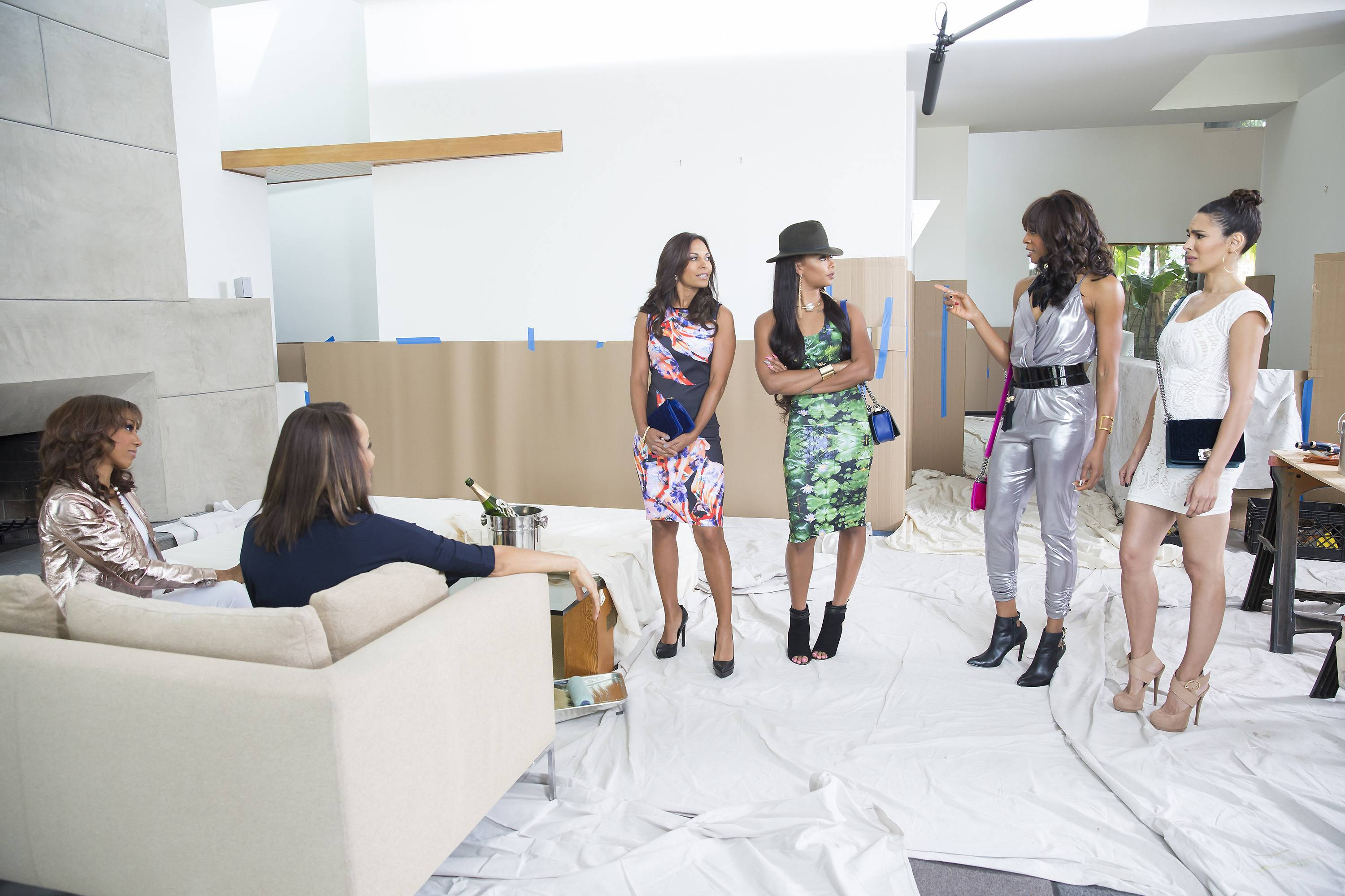 Nicole Ari Parker takes her sweet time letting the ladies know who made the cut, while she thinks about remodeling her home.  - Epi412/Wives Episode(Photo: Dale Berman/BET)