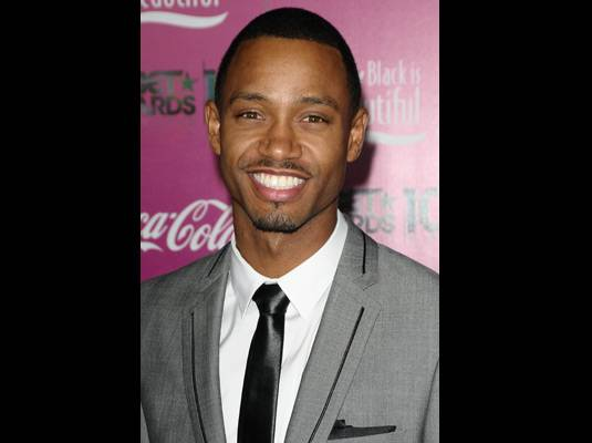 Terrence J. - Terrence J. rocks his grey and black suit before getting ready to present the Viewers? Choice Award with his ?106 & Park? co-host, Rocsi.
