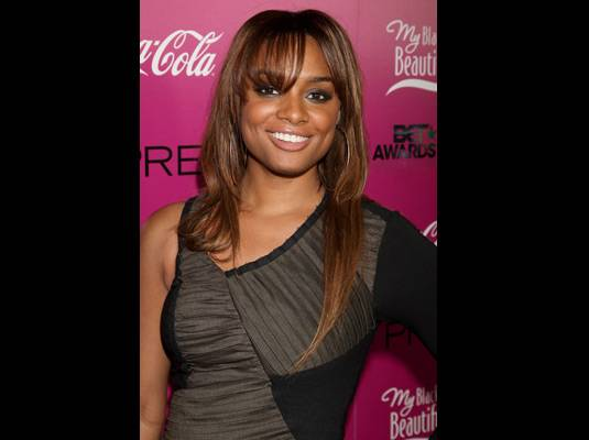 Alesha Renee - ?My Black Is Beautiful? co-host Alesha Renee adds some grey to her beauty on the red carpet.
