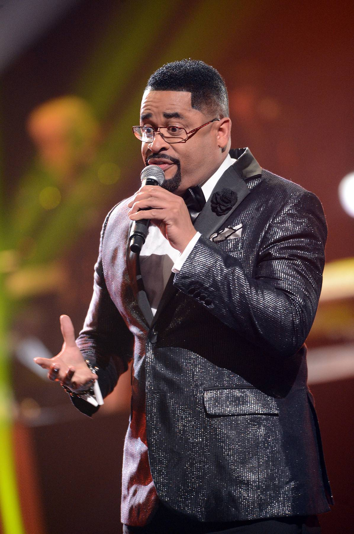 Glory to Your Name - Stellar Award-winner Byron Cage has been moving audiences since he was a teen, and it's no different when he took the stage for Bobby Jones Gospel. (Photo: Rick Diamond/Getty Images for The Stellar Awards)