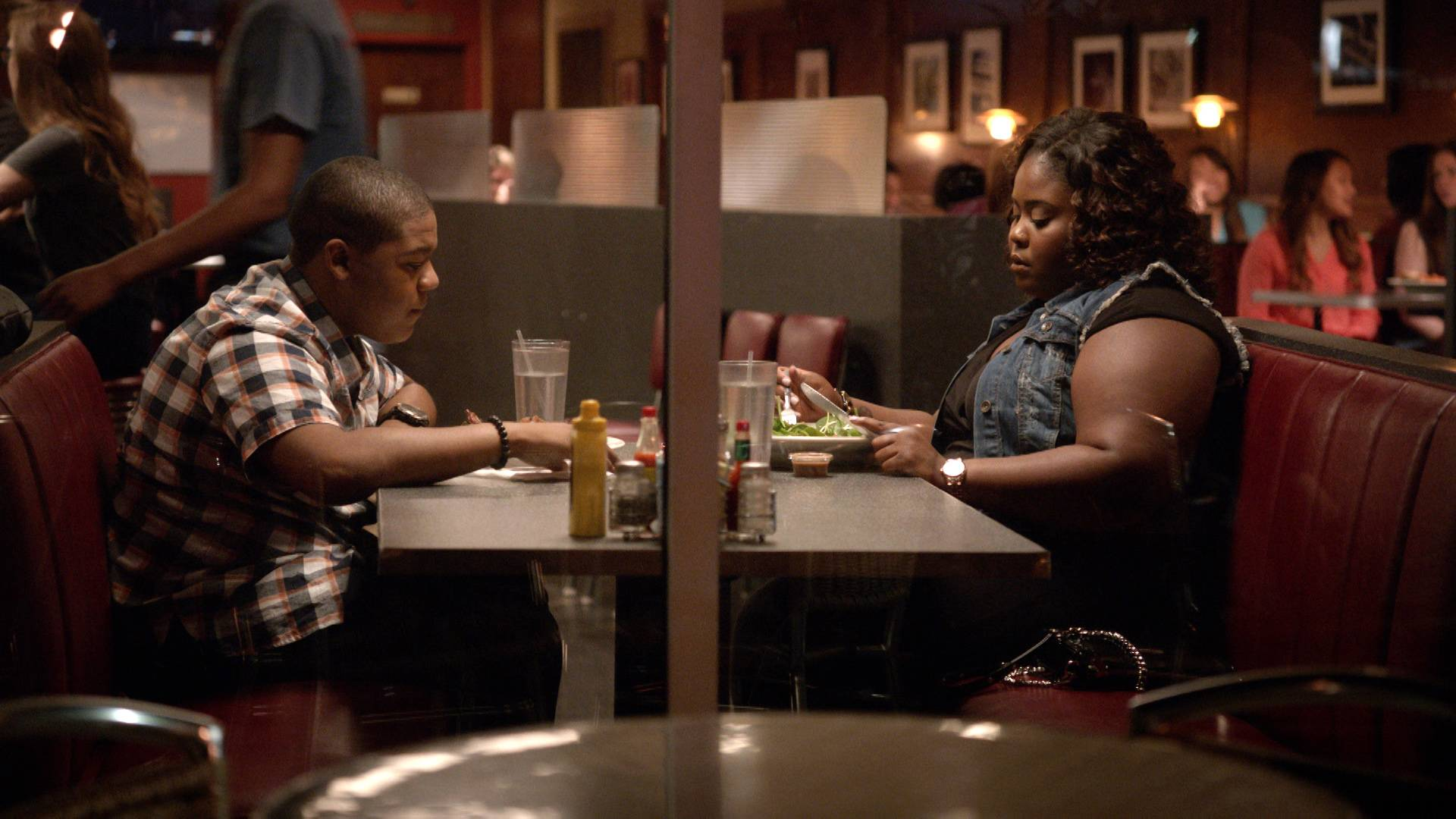 The Baby's Father - Treyvion's dad seems to have missed his family, but is he genuine?(Photo: BET)