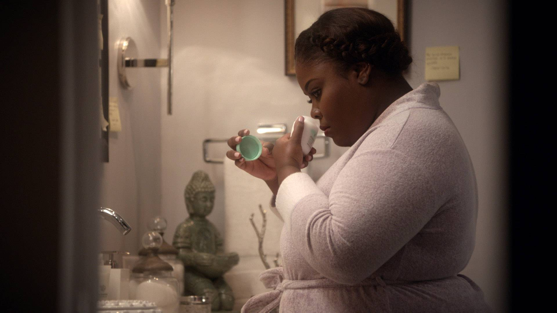 Niecy Home Alone  - Niecy spends some time home alone and gets to pretend to be Mary Jane.   (Photo: BET)