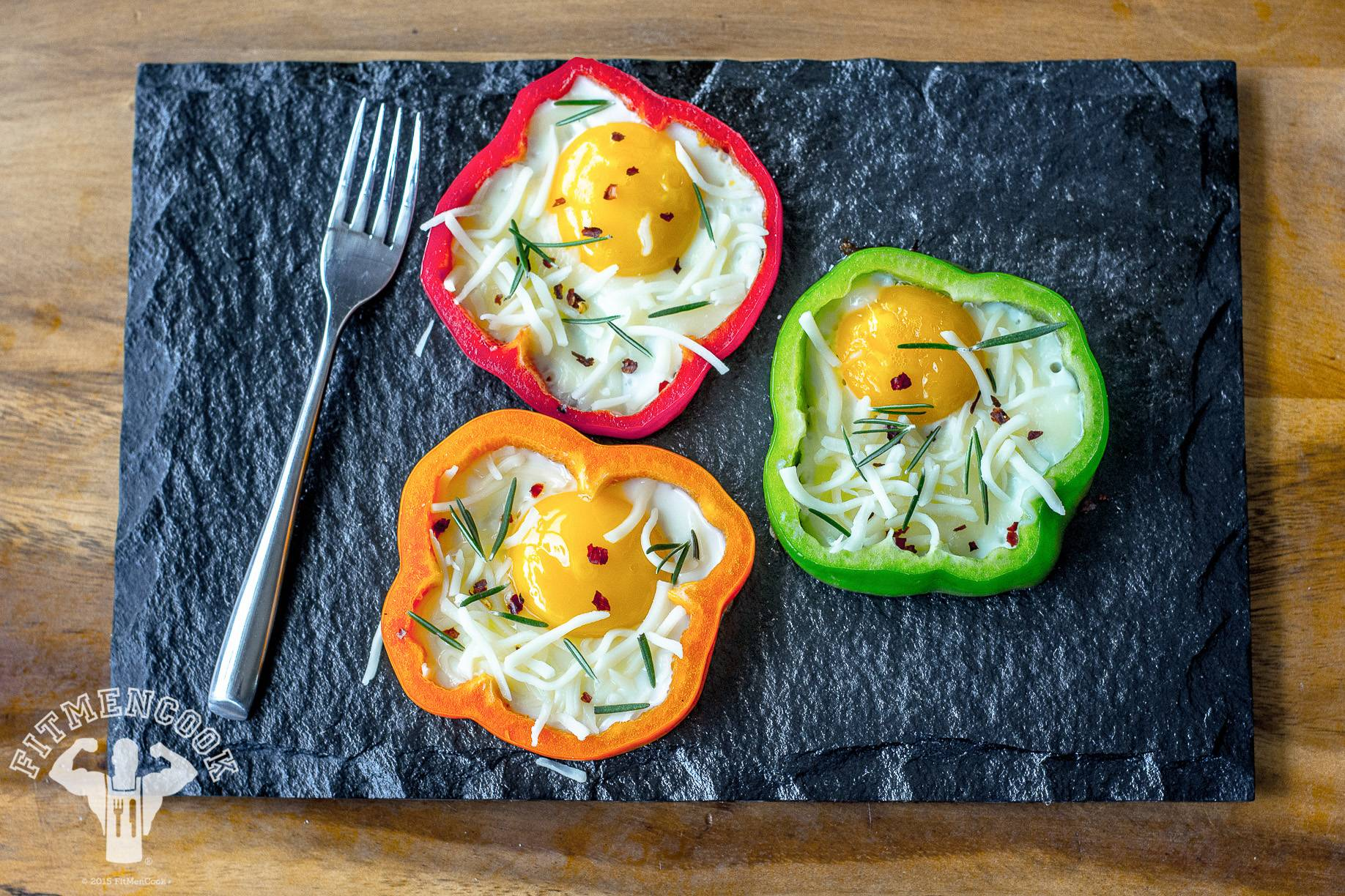 Eggs in a Bell Pepper - Consider these bell pepper eggs a remix of the classic eggs in a basket.   (Photo: Kevin Curry)