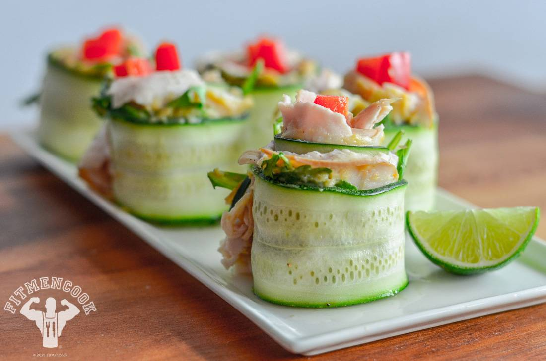 Zucchini Cucumber Rolls - Try these zucchini cucumber rolls for a new take on the sandwich.   (Photo: Kevin Curry)
