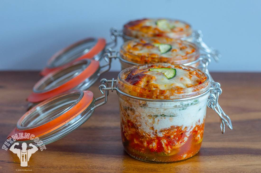 Lasagnaa With a Twist - Zucchini lasagna. Placing the lasagna in mason jars means automatic portion control, perfect for meal prep and packing food ahead of time. Just grab and go!   (Photo: Kevin Curry)