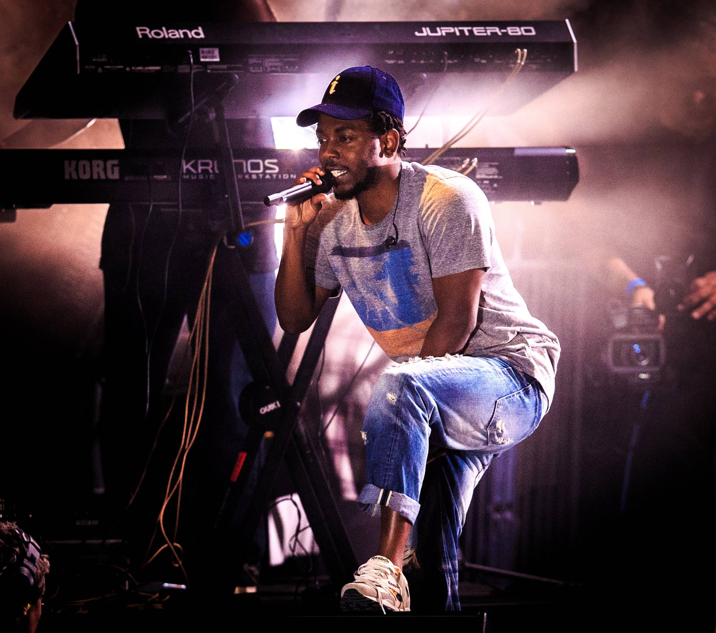 """Kendrick Lamar - Kendrick Lamarhas credited Mr. West for teaching him to """"always stay as creative as possible,"""" and """"never have any boundaries."""" And he's also taught him that he doesn't have to contain that to music. ?Those things that people called 'rants' on-stage are real conversations that we had behind closed doors about business and how when you get to a certain level people won't want to see you break through because they only see you as a rapper,? Kendrick said.(Photo: Christopher Polk/Getty Images for BACARDI)"""