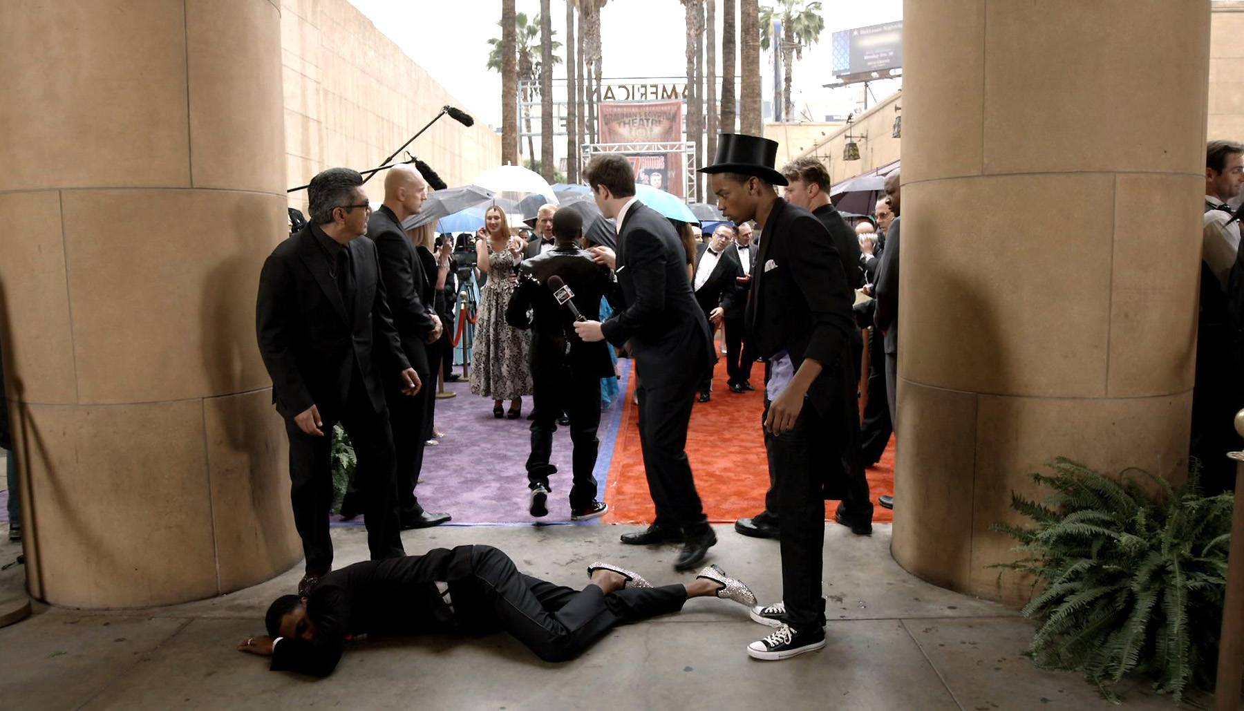 Be Careful What You Wish For - Not that Kevin was being literal, but damn. Nick just collapsed like that in front of Kevin.  (Photo: BET)
