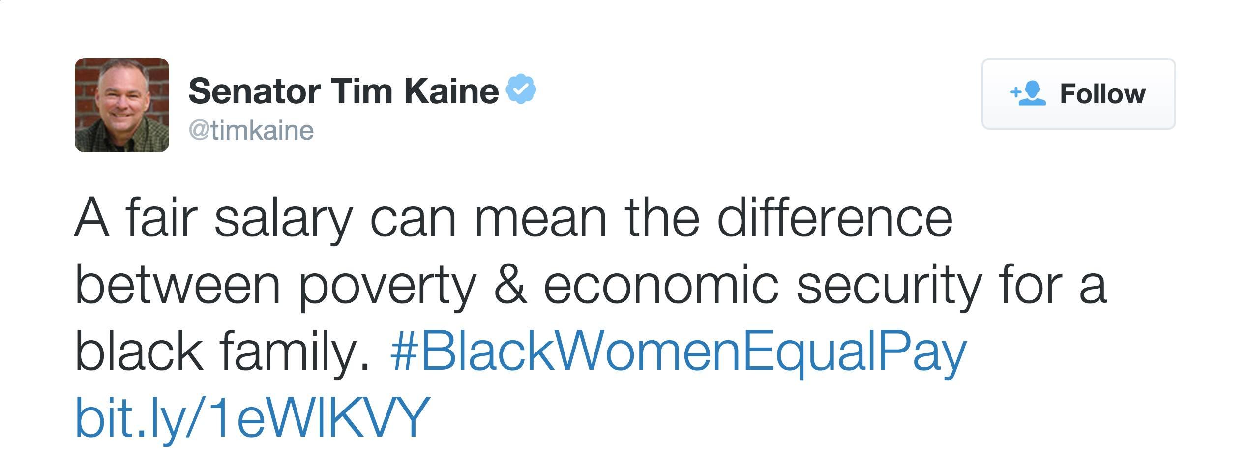 @timkaine - (Photo: Senator Tim Kaine via Twitter)
