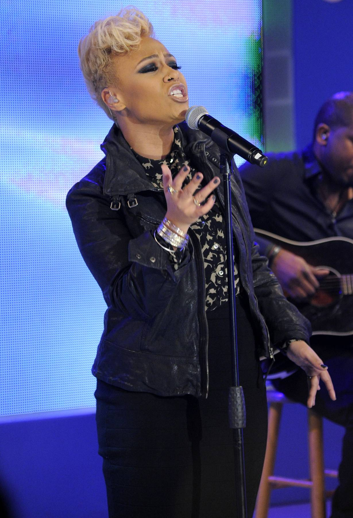 """On Cloud 9 - In her 106 and Park debut,Emeli Sand? performed her popular single """"Next to Me.""""(Photo: John Ricard/BET)"""