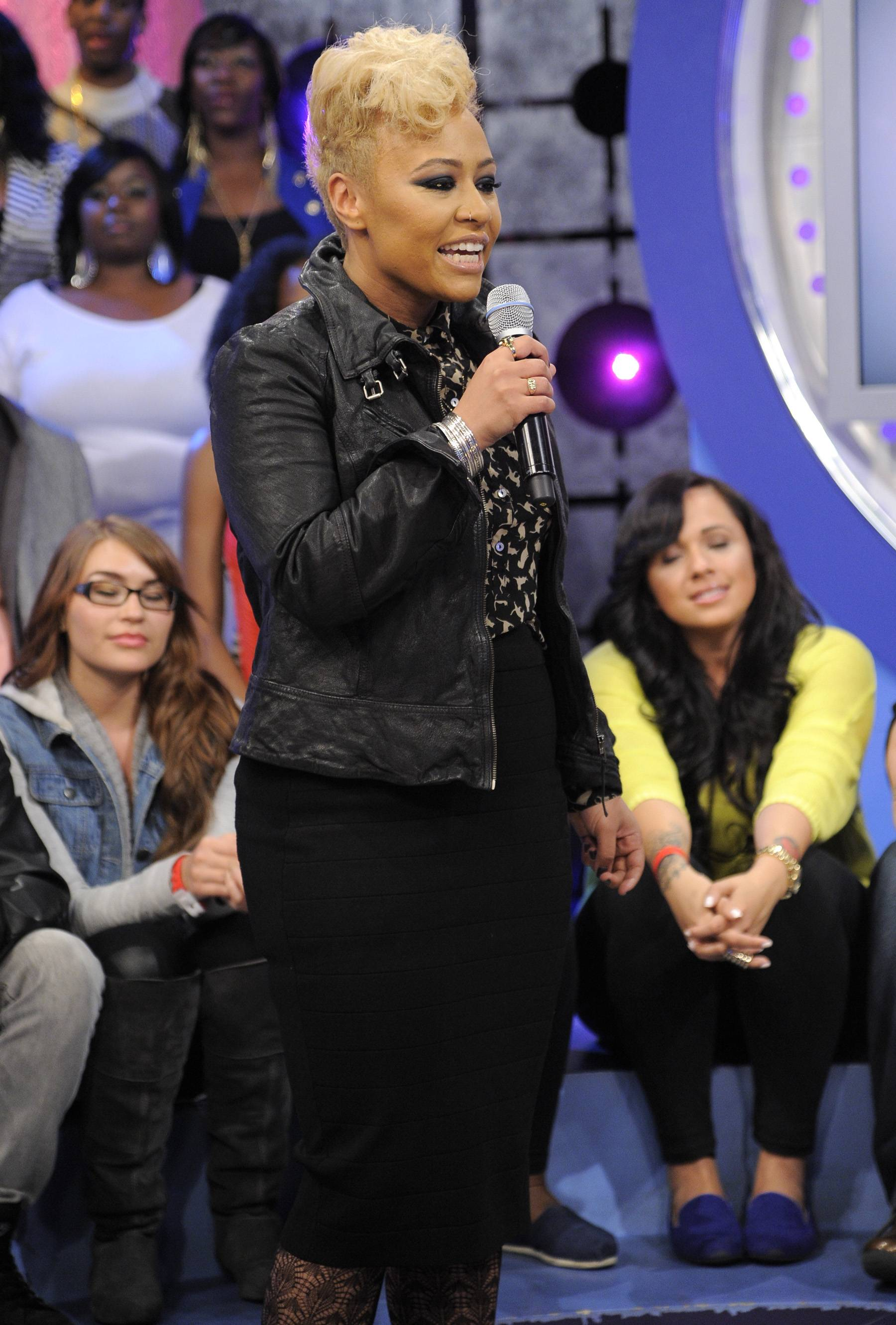 Dr. Sand? - In her interview with Rocsi, Sand? reveals that she's been studying medicine for the last four years and encourages audience members to stay in school.(Photo: John Ricard/BET)