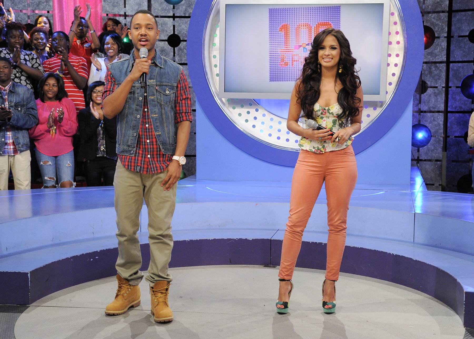 Ready To Talk About The Future - Rocsi Diaz and Terrence J at 106 & Park, April 20, 2012. (Photo: John Ricard / BET)