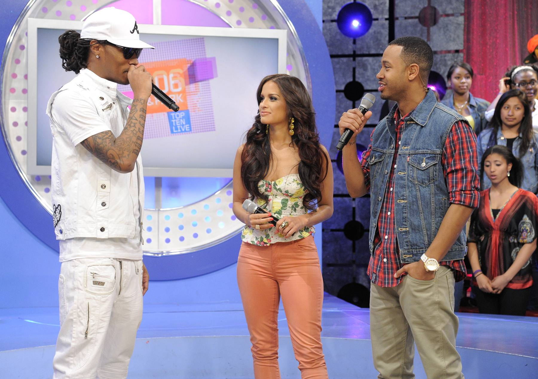 Future Discussion - Future with Rocsi Diaz and Terrence J at 106 & Park, April 20, 2012. (Photo: John Ricard / BET)