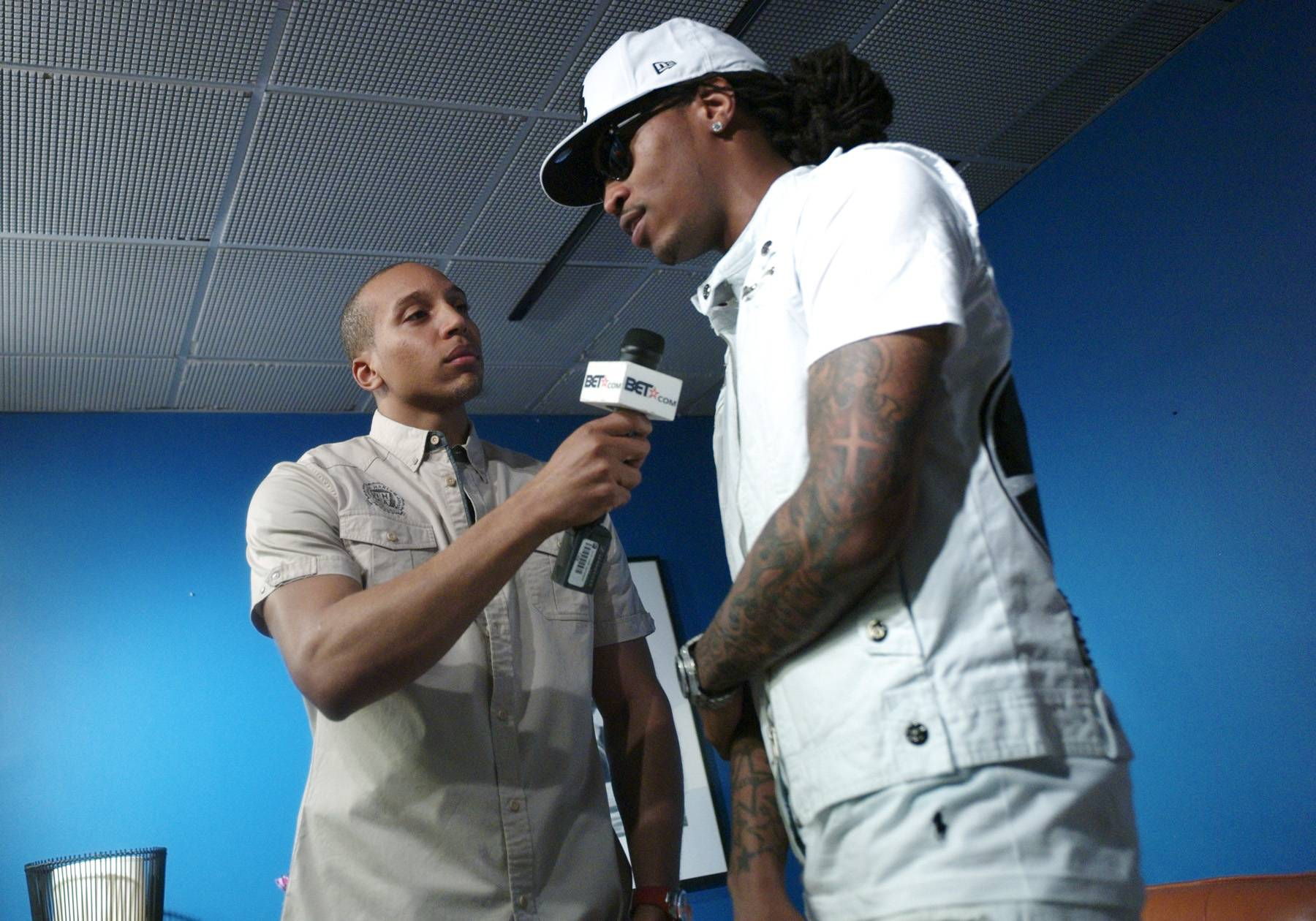 Tell Me - Future speaks to Tony Anderson of BET.com in the green room at 106 & Park, April 20, 2012. (Photo: John Ricard / BET)