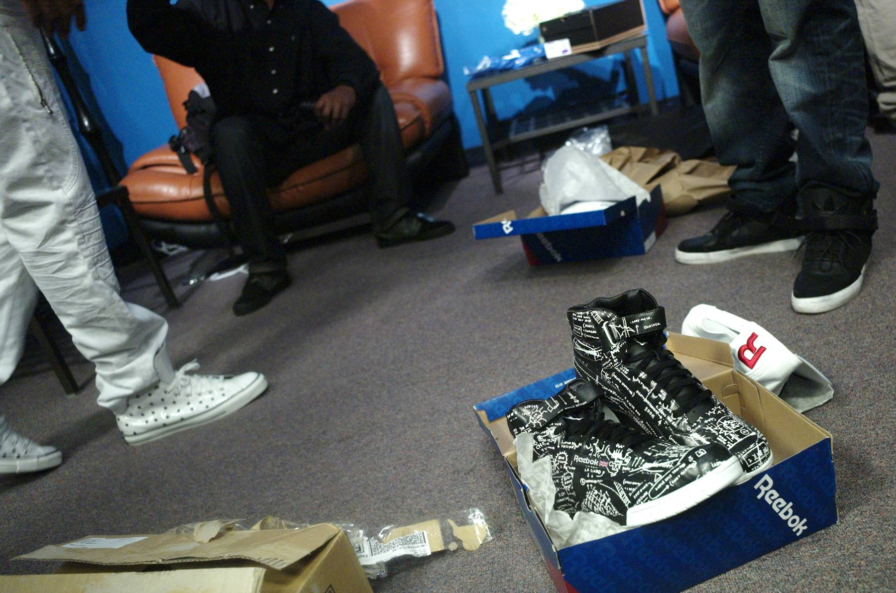 Wow - Sneakers for Future in the green room at 106 & Park, April 20, 2012. (Photo: John Ricard / BET)
