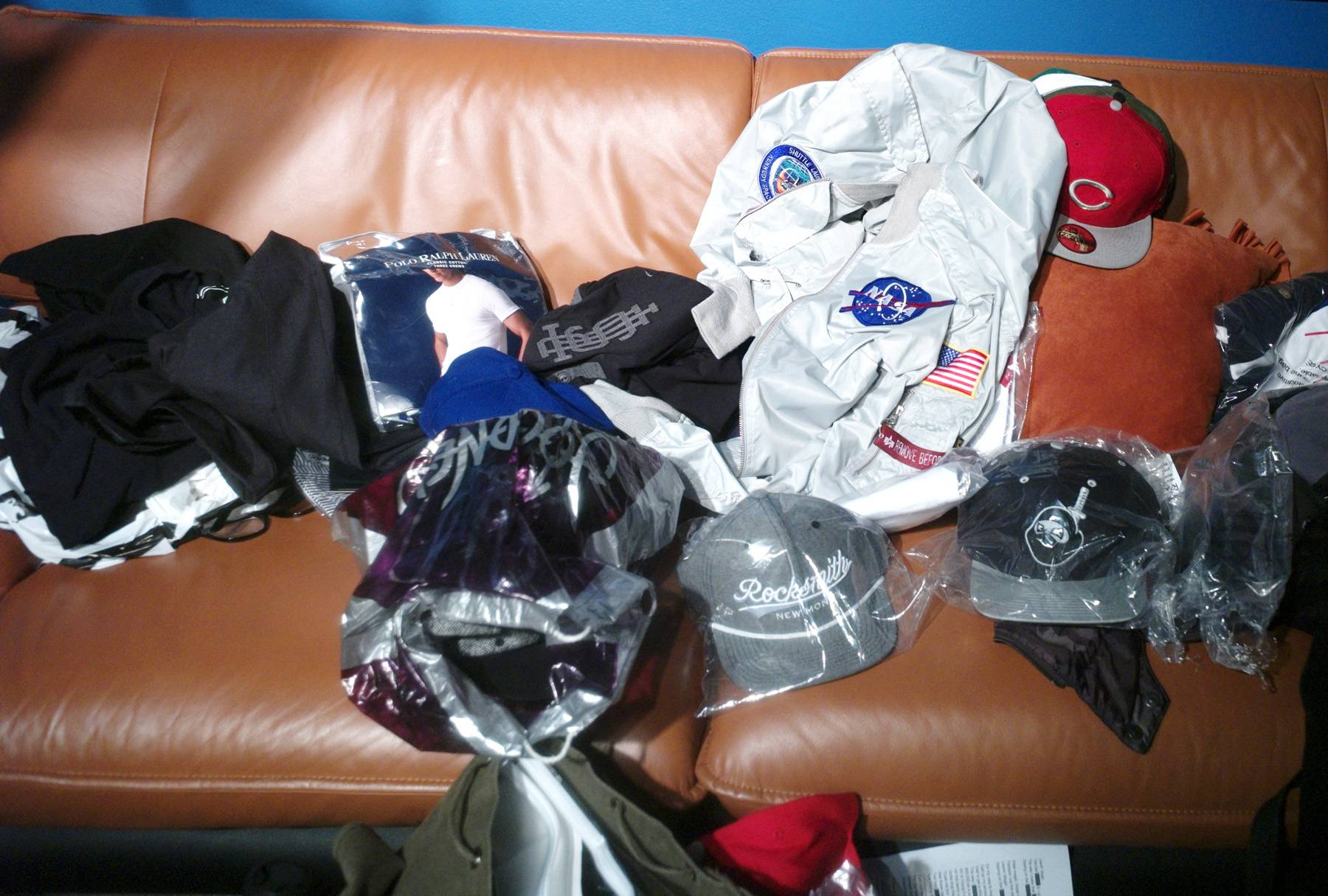Laid Out - Clothing for Future is laid out in the green room at 106 & Park, April 20, 2012. (Photo: John Ricard / BET)