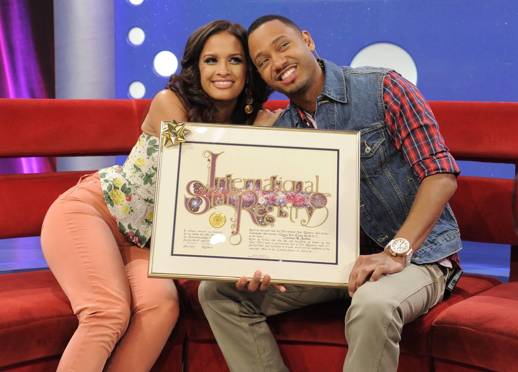 Friends Forever - Terrence J and Rocsi Diaz at 106 & Park, April 20, 2012. (Photo: John Ricard / BET)