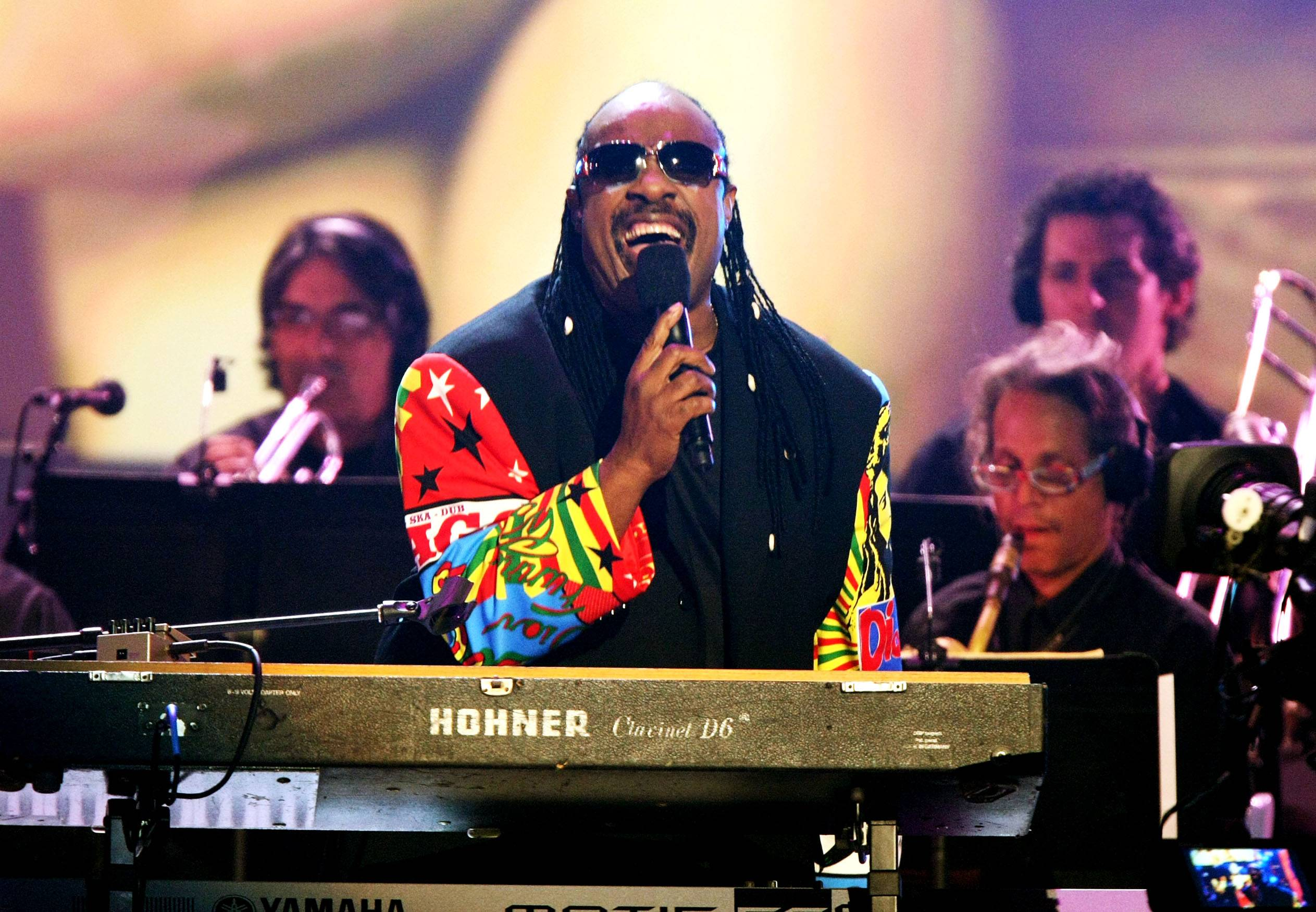 Stevie Wonder - The legendary Motown singer and pianist performs during a tribute to Diana Ross after she receives her Lifetime Achievement Award. (Photo: Getty Images/Getty Images)