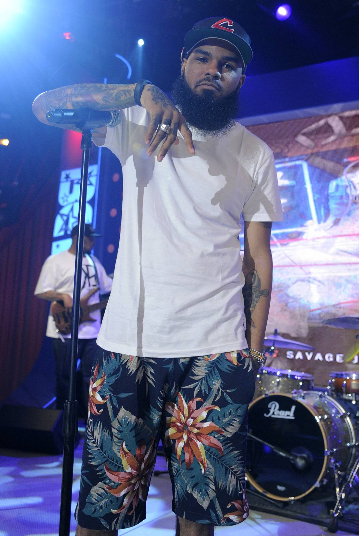 Ready to Go - Stalley of MMG rehearsing before he goes on at 106 & Park, April 17, 2012. (Photo: John Ricard/BET)