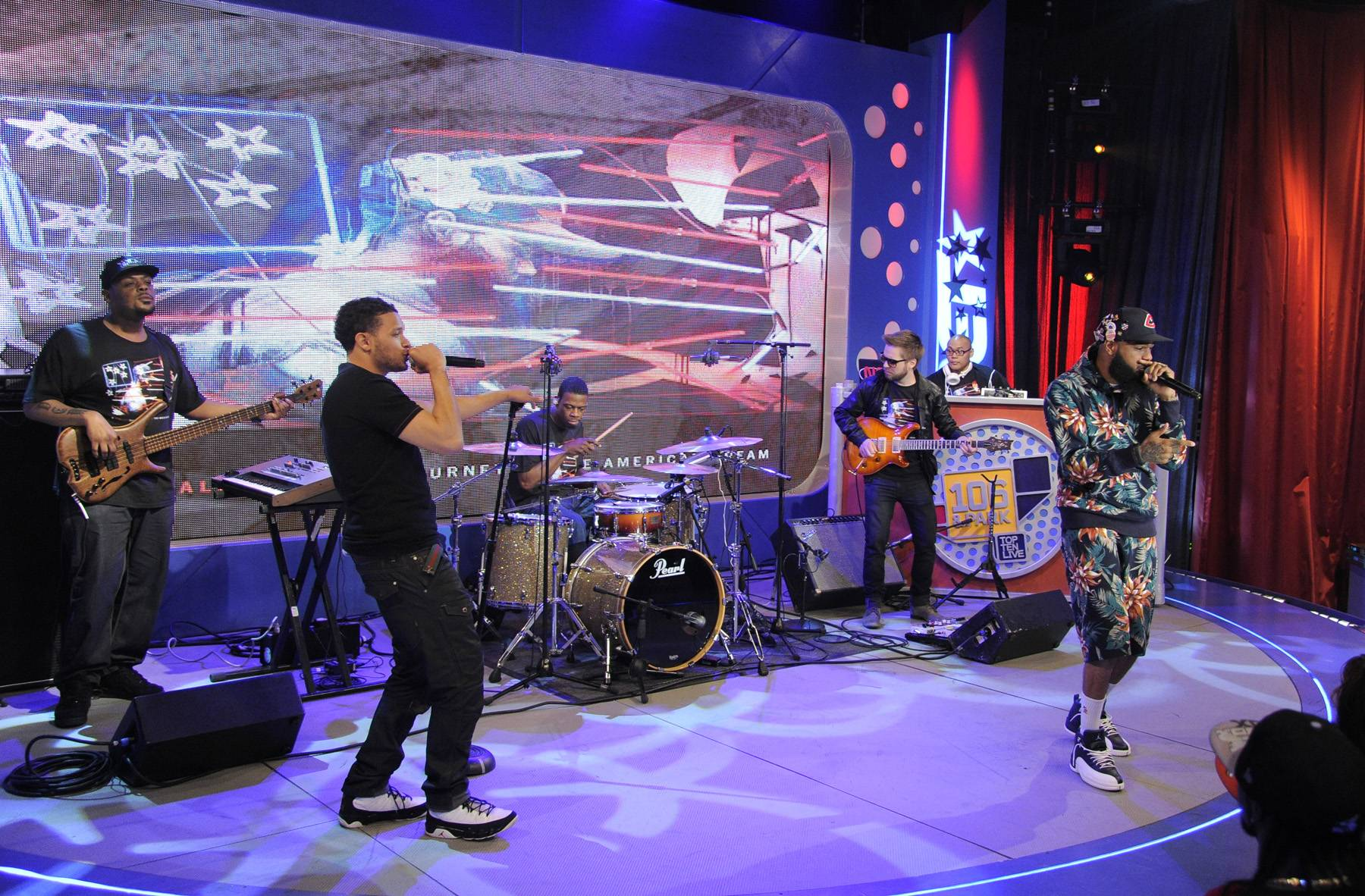Maybach Music - Stalley has previously been a guest on 106 & Park alongside his Maybach Music Crew members, this time though, he was accompanied by his live band.(photo: John Ricard / BET)