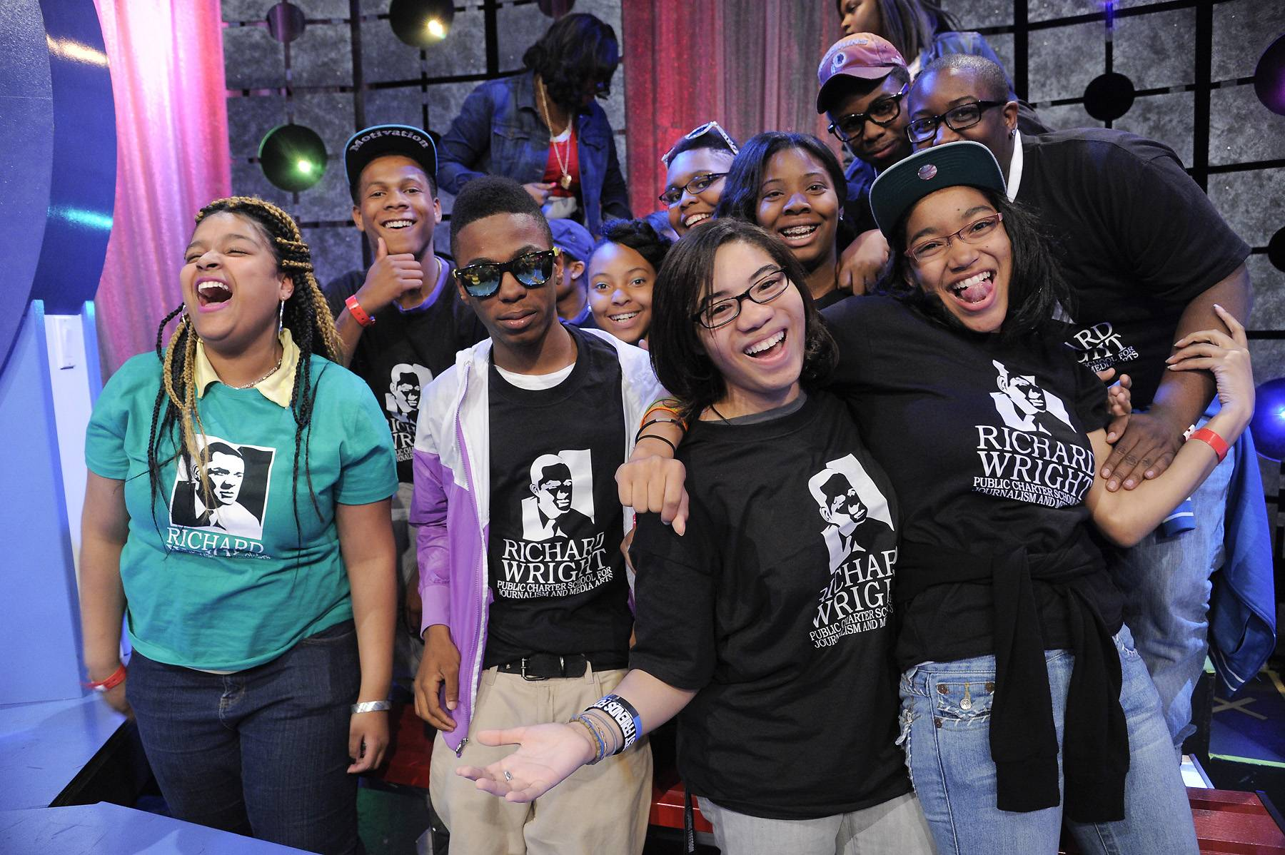 Study Hard - Students from Richard Wright School for Journalism and Media Arts at 106 & Park, April 9, 2012. (photo: John Ricard / BET)