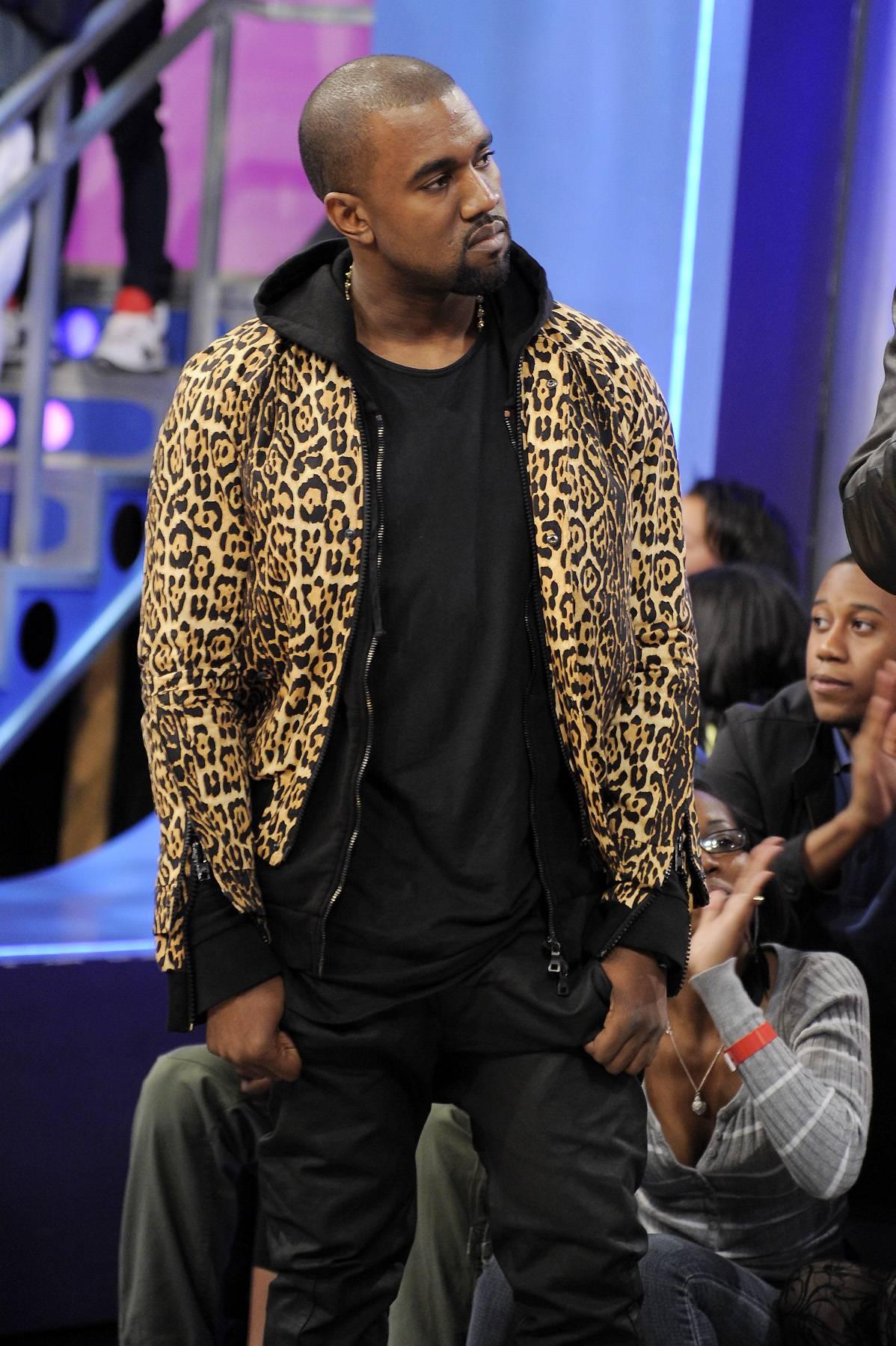 Hmmm - Kanye West at 106 & Park, April 9, 2012. (photo: John Ricard / BET)