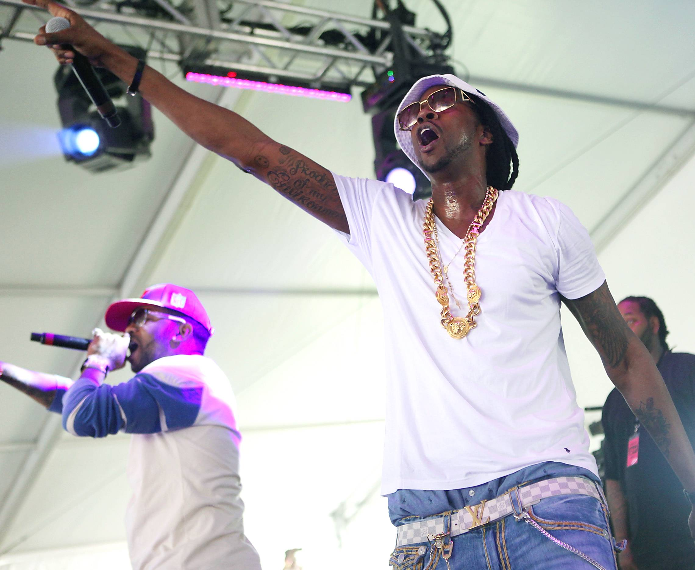 SXSW - SXSW bore witness to a legend in the making when 2 Chainz brought out Kanye West during his set at the Malaia World Lounge (which was sponsored by S.O.B.'s). The Internets went ablaze with rumors that Kanye was interested in having 2 Chainz join the ranks of his G.O.O.D. Music label.(Photo: Roger Kisby/Getty Images)
