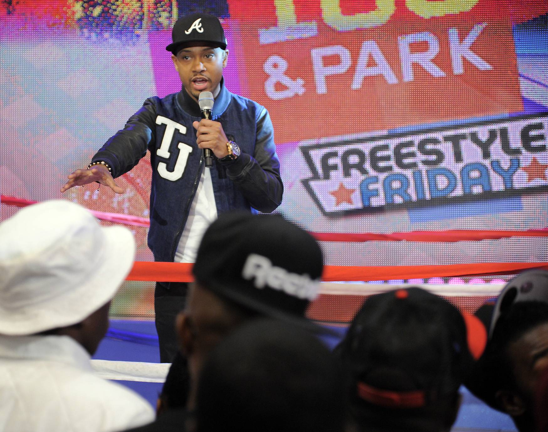 Get Hype - Terrence J preps the crowd for the upcoming battle at 106 & Park, April 6, 2012. (photo: John Ricard / BET)