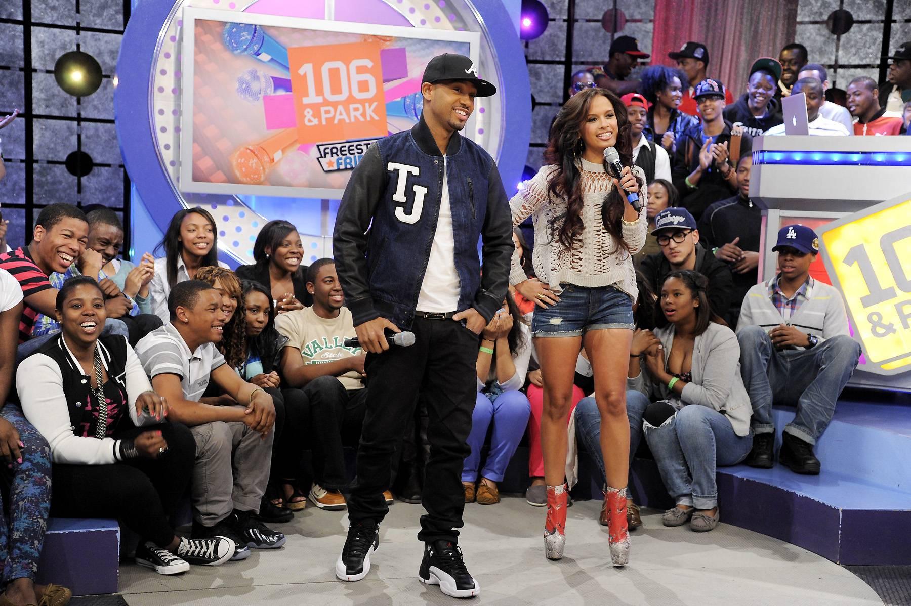 Let's Go - Terrence J and Rocsi Diaz at 106 & Park, April 6, 2012. (photo: John Ricard / BET)