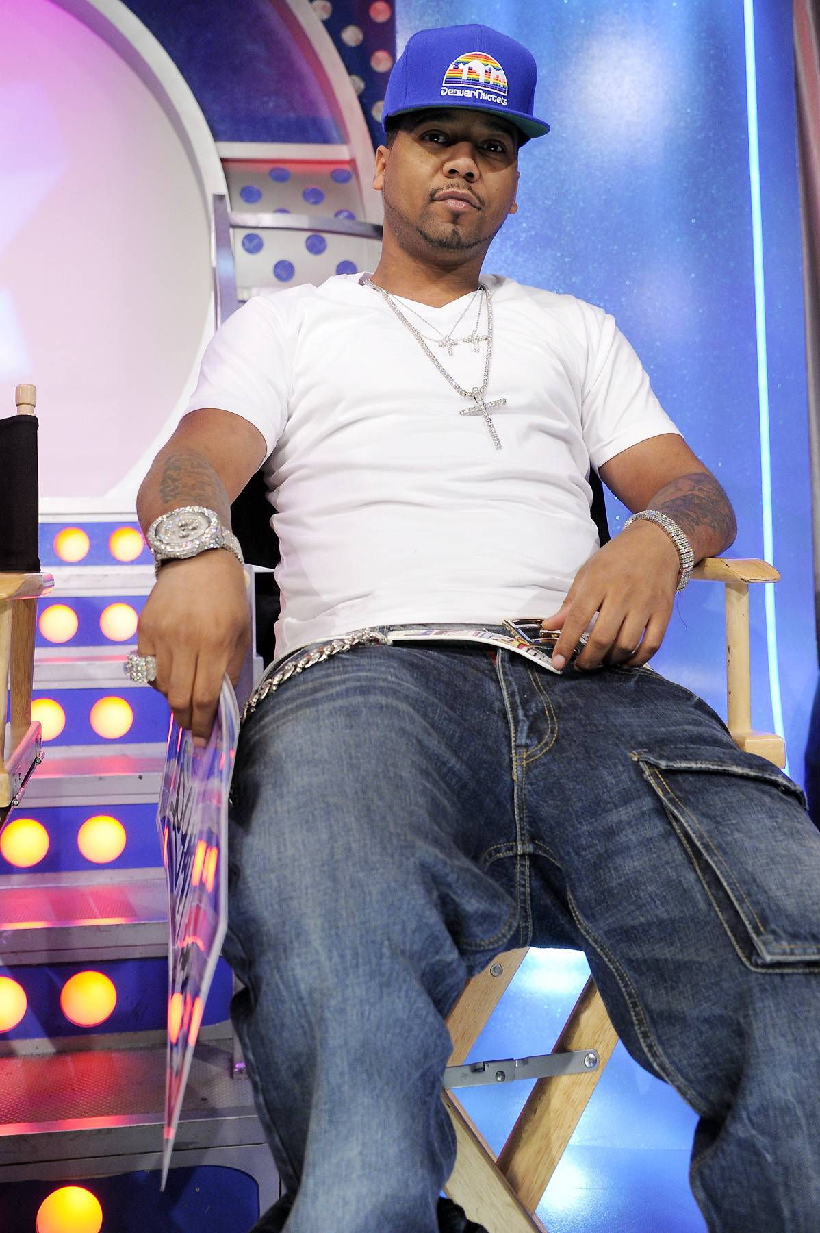 """Juelz Santana - Another former member of Dipset is Juelz Santana. The emcee is walking the solo artist line right now and just released a mixtape titled """"God Will'n."""" All reviews have been positive and his next album is definitely going to be a hot one.  (photo: John Ricard / BET)"""