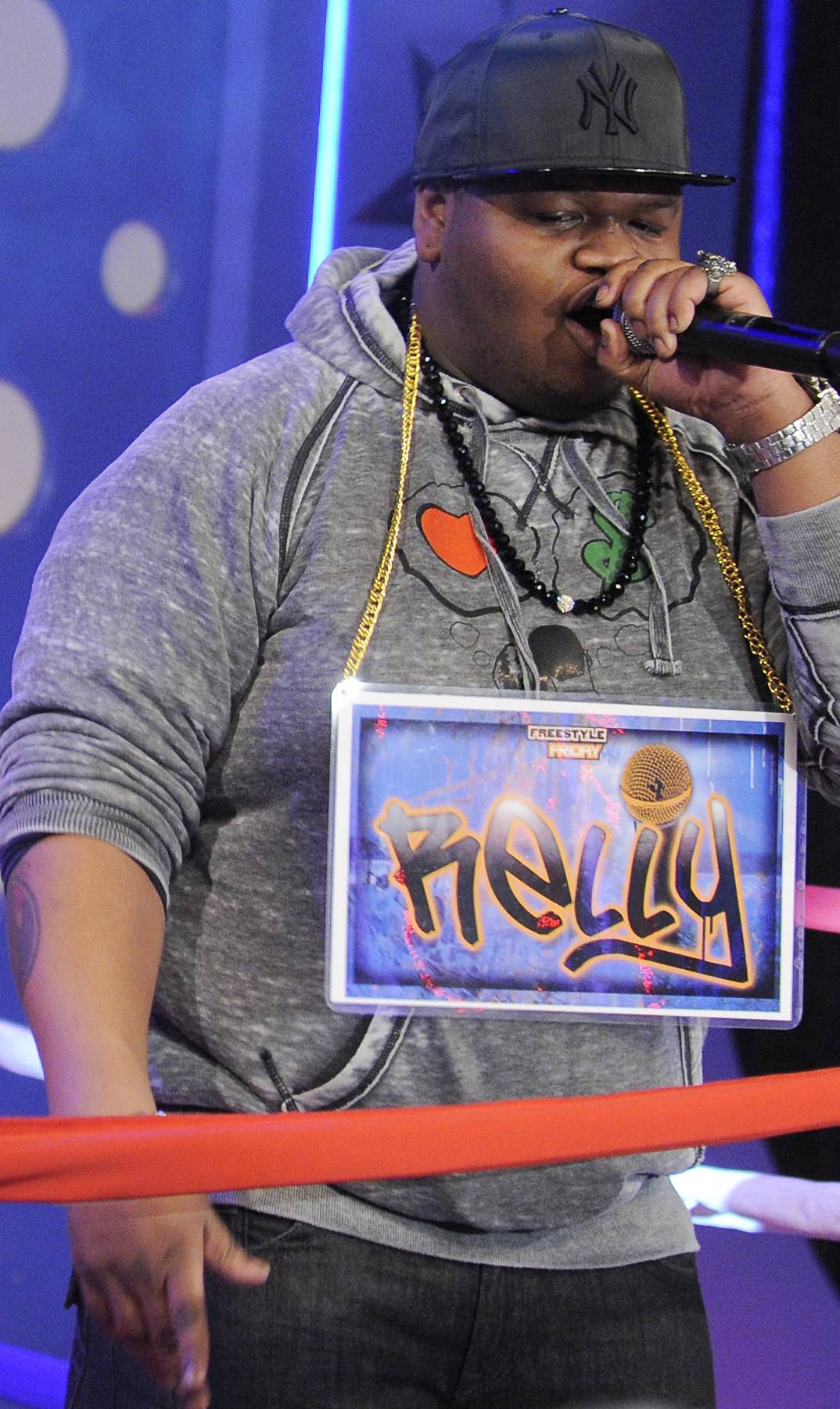 Go Hard or Go Home - Freestyle Friday contestant Relly at 106 & Park, April 6, 2012. (photo: John Ricard / BET)