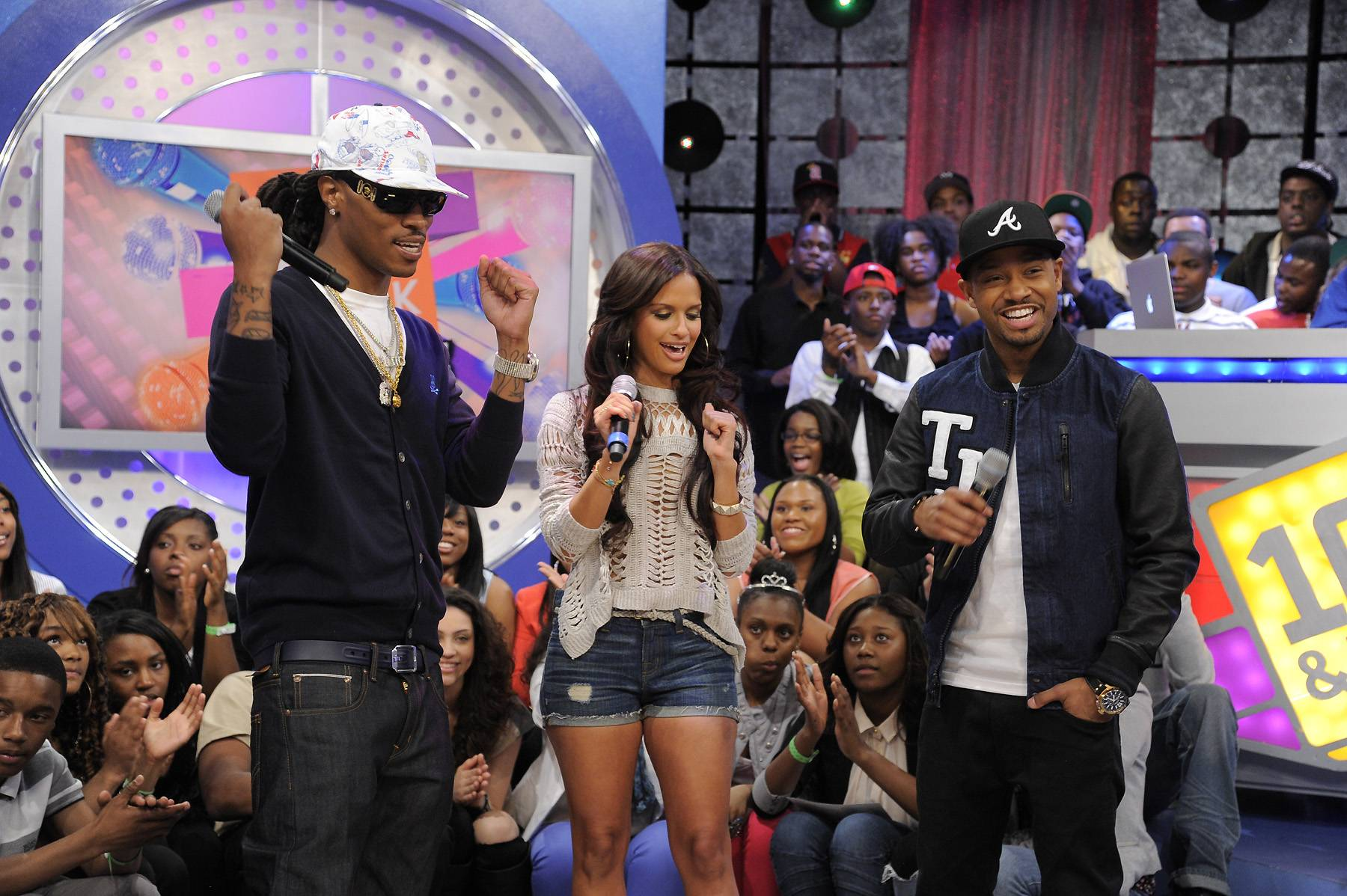 More Than Just Magic - Future and RD dance to Future's new video at 106 & Park, April 6, 2012. (photo: John Ricard / BET)