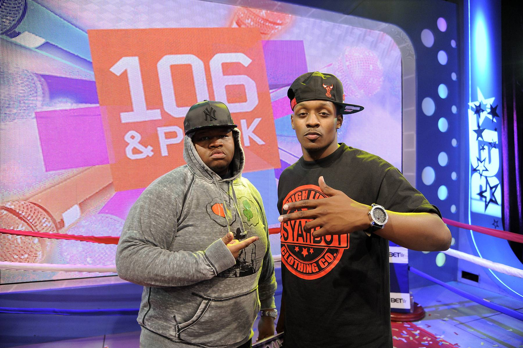It's All Love - BET is proud of the mutual respect between Relly and Syahboy at 106 & Park, April 6, 2012. (photo: John Ricard / BET)