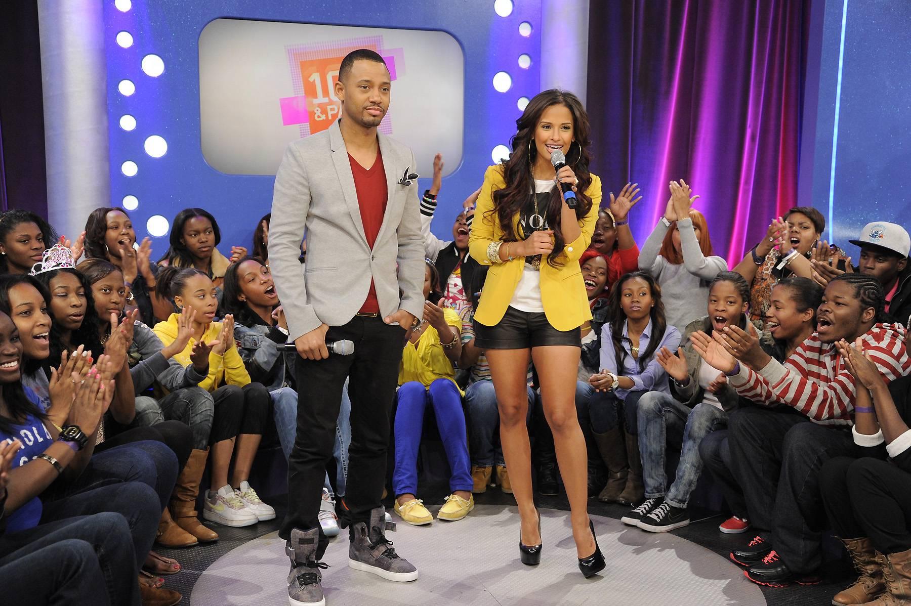 Think Like A Man - Terrence J and Rocsi Diaz at 106 & Park, April 5, 2012. (photo: John Ricard / BET)