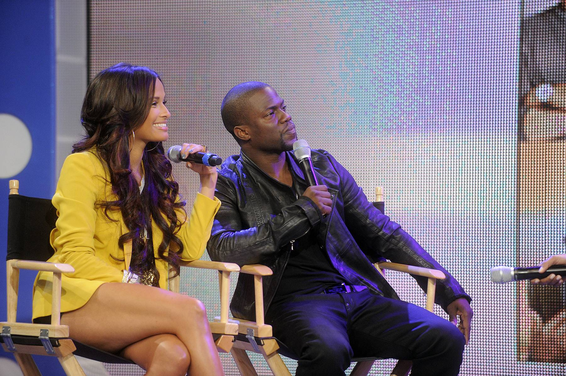 Switching It Up - When Kevin stopped by 106 & Park in April with the Think Like a Man cast, he switched places with one of the film's other stars, Terrence J, who was still a host at the time. He made Terrence sit in his seat and actually interviewed him during one of the segments. (Photo: John Ricard / BET)
