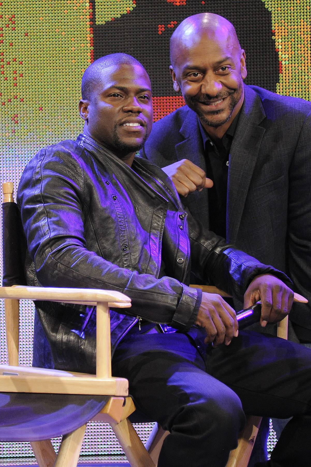 Stephen Hill with Kevin Hart - Stephen Hill with Kevin Hart at 106 & Park, April 5, 2012. (photo: John Ricard / BET).