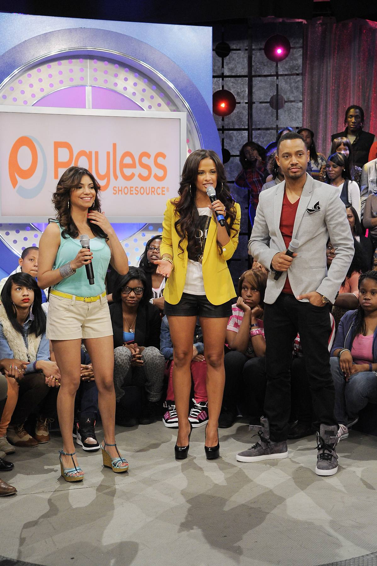 Makeover Time - Audience member who received a Payless makeover at 106 & Park, April 5, 2012. (photo: John Ricard / BET)
