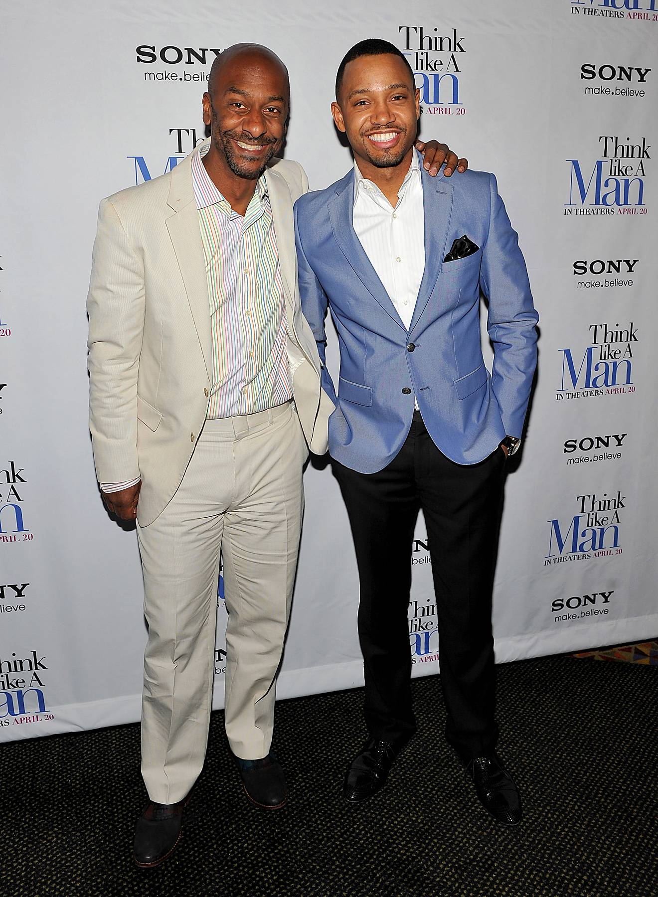 Tailor Made - Terrence J takes a pic with BET's own Stephen G. Hill at the premiere of Think Like A Man. Lookin' dapper gents!(Photo: Fernando Leon/Getty Images)