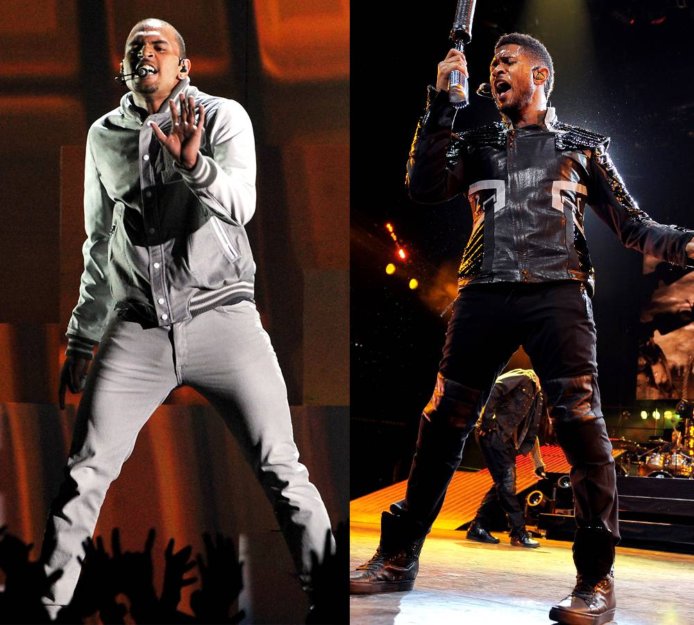 'New Flame' featuring Usher and Rick Ross - High stepping keyboard notes pulsate with a sauntering 808 on this steady rocking ballad shared betweenUsher,ChrisandRozay. The three voice their perspective on adding a new flame to a relationship.(Photos by Kevin Winter/Getty Images;Jeff Daly/PictureGroup)