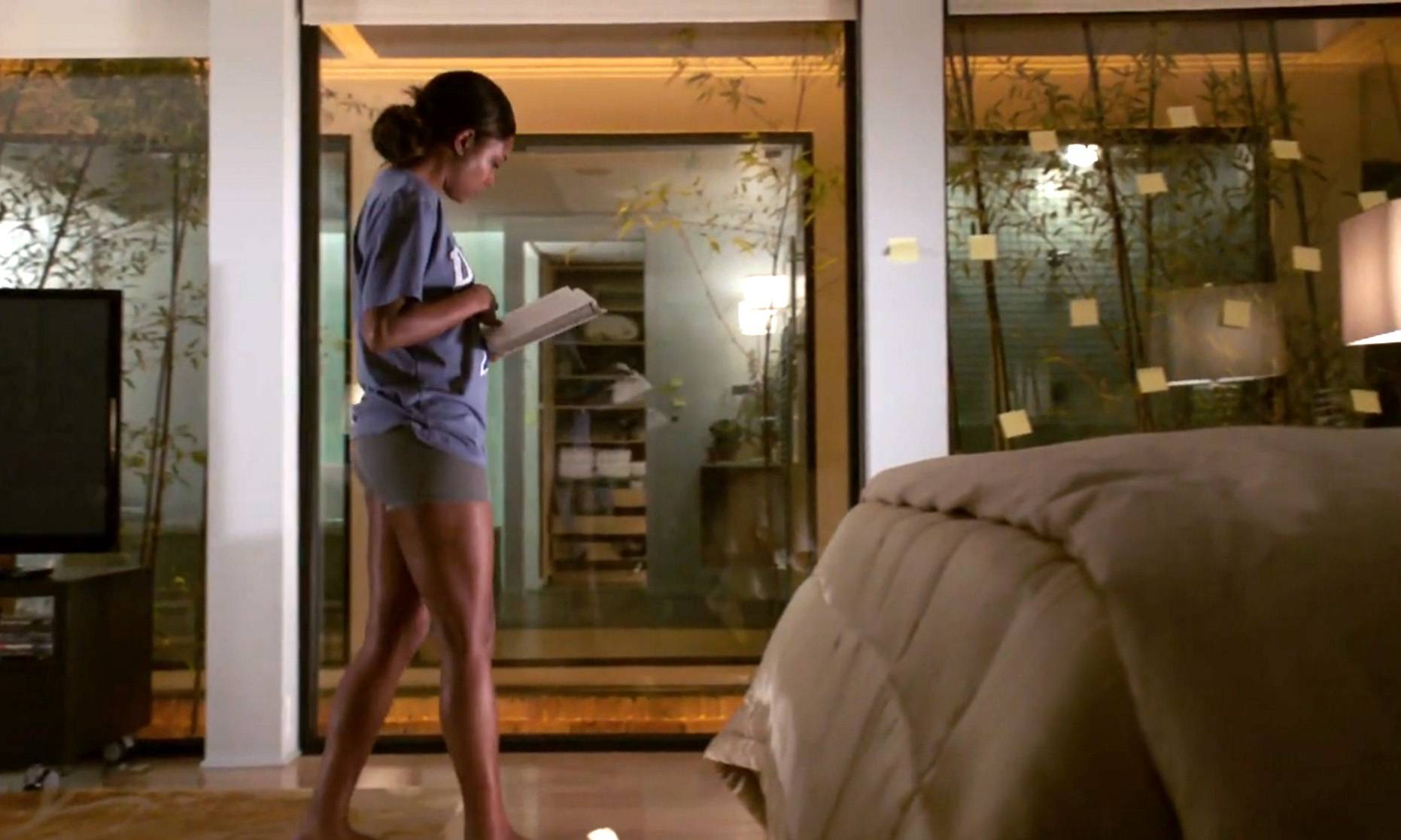 12. Reflection - It is purposeful that there are so many windows in Mary Jane's house. It was done to give a voyeuristic feel. They are also there so that both Mary Jane and the audience have time to feel as though they're reflecting as scenes develop.   (Photo: BET)