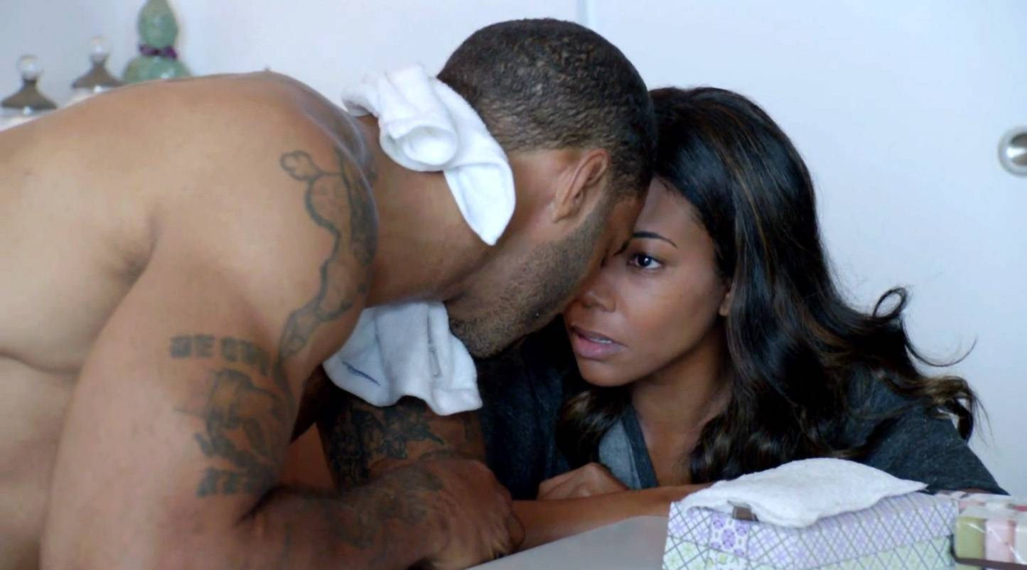 5. Hot and Bothered - Before the movie's opening sex scene, Omari Hardwick took a jog to get his heart rate up to give it a more intense feel.  (Photo: BET)