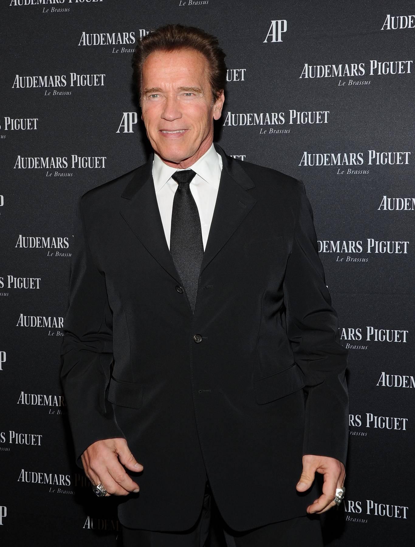 Arnold Schwarzenegger - March 27, 2014 - Arnold Schwarzenegger came to Sabotage the 106 & Park set! Watch a clip now!(Photo: Jason Kempin/Getty Images)
